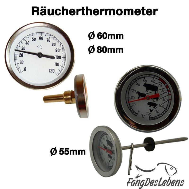 RÄUCHERTHERMOMETER 120° GRAD THERMOMETER FÜR DEN RÄUCHEROFEN