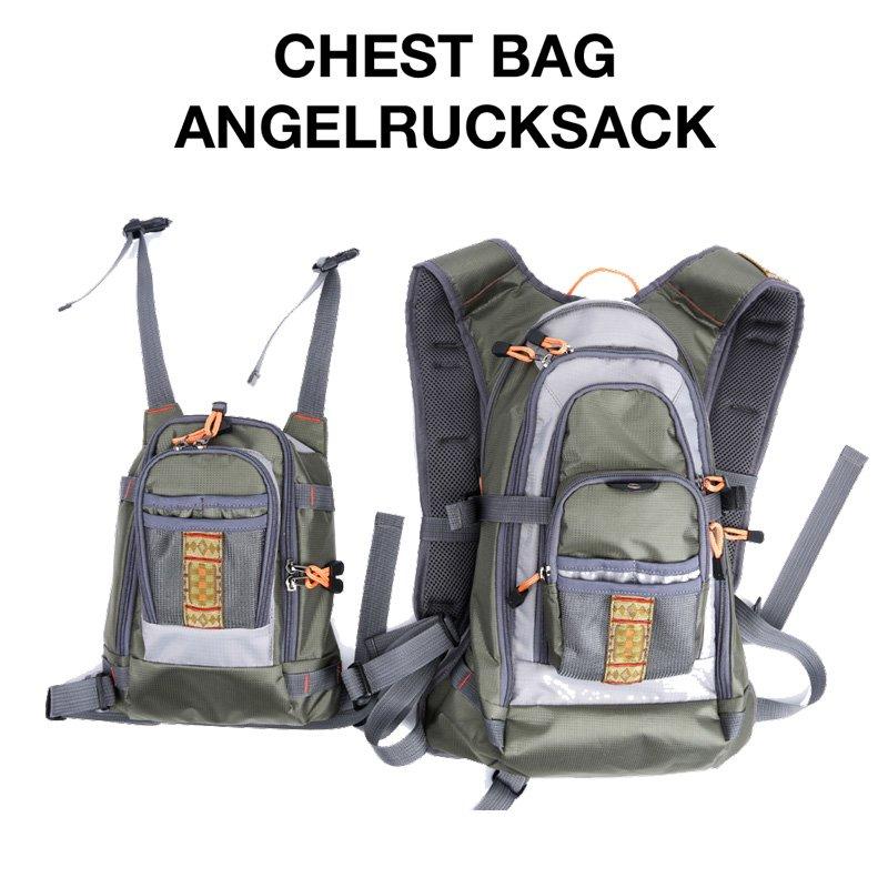 FreeTec Fliegenfischen Weste Pack Angeljacke Angelausr/üstung Jagd Angeln Freizeitweste Angelweste//Angelriemenpaket//Angelrucksack