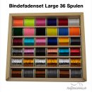 Bindefaden Set 5 Large - 36 Spulen in Holzbox